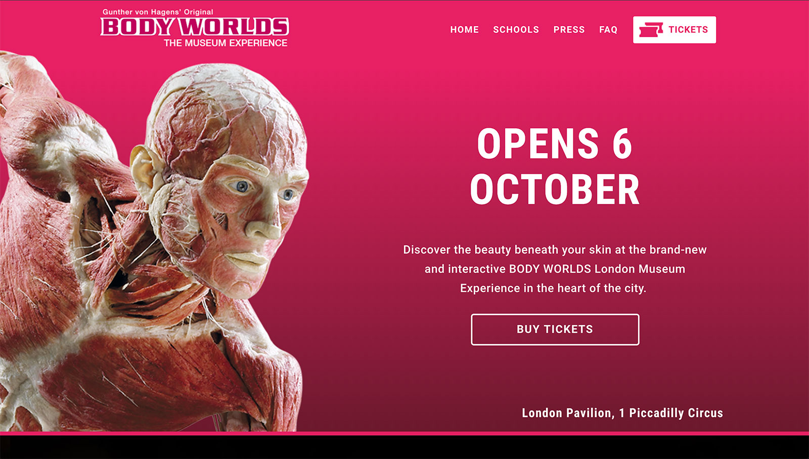 Lucius Launches Body Worlds London | Ticketing Platform