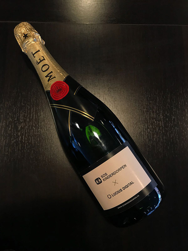 Celebrated  With Champagne