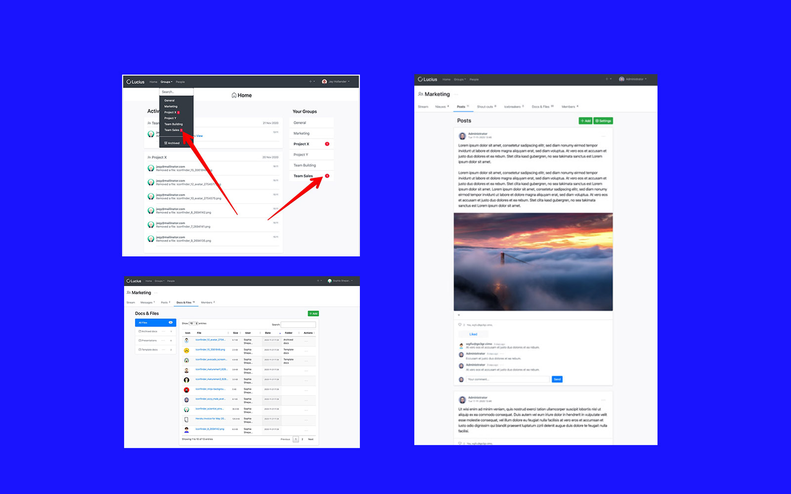 Update OpenLucius | Major facelift for this social productivity Drupal distro
