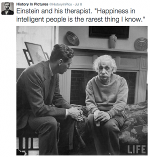 Happy of intelligent? Check die Einstein dan :)