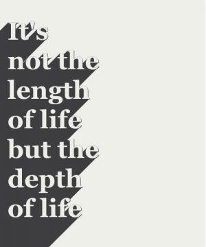 Depth not length