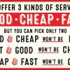Good, cheap, fast